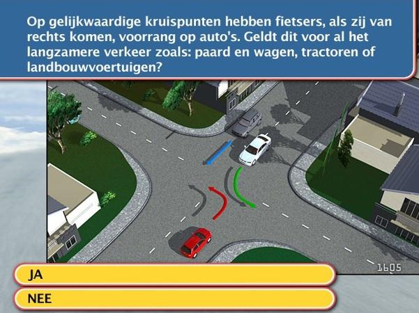 rijbewijs theorie voorbeeld